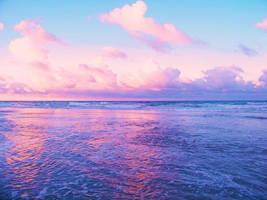 Sunset At Daytona Beach by TabithaS-Photography