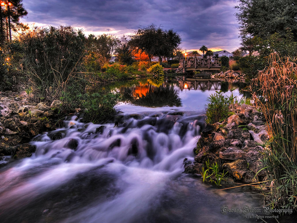 Soothing Waterfall by TabithaS-Photography