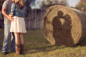 Shadows and Hay Bales by TabithaS-Photography