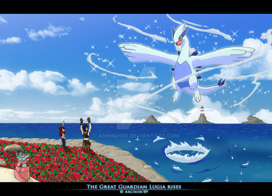 The Great Guardian Lugia Rises By Archon89 On Deviantart
