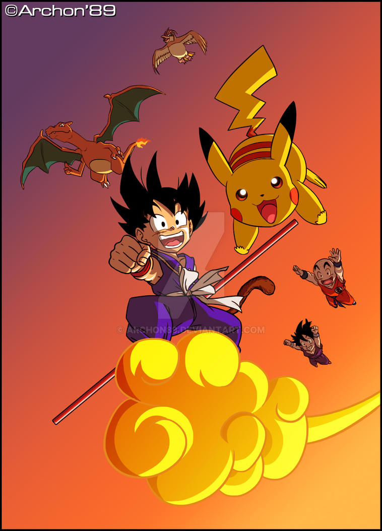 DragonBall and Pokemon Anniversaries by Archon89 on DeviantArt