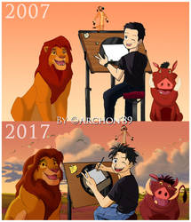 Improvement (Me and our Lion King friends)