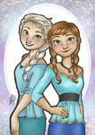 Disney Modern Frozen - Elsa and Anna