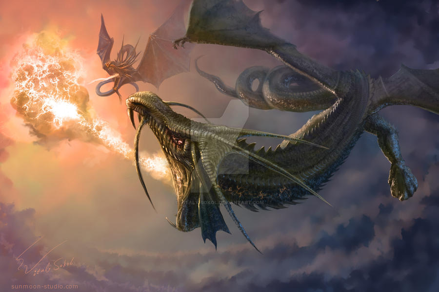 Dragons engagement by Vitaly-Sokol