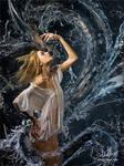 Aqualita and waterdragon. by Vitaly-Sokol