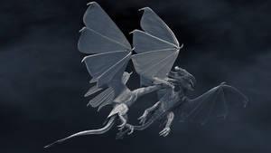 Dragon's Tale - silver battle by Vitaly-Sokol