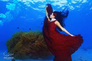 Underwater Dance. Flame. by Vitaly-Sokol