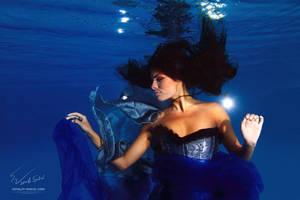 Underwater Dance. Night. by Vitaly-Sokol