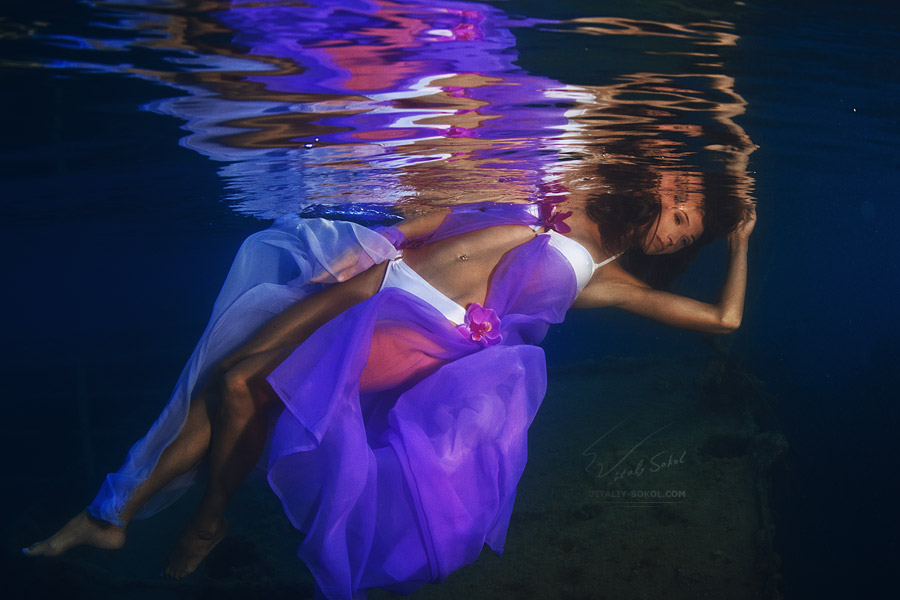 Underwater Dance. Flowers. by Vitaly-Sokol