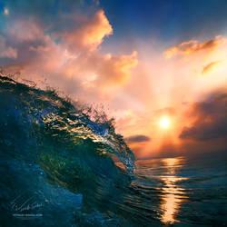 Ocean sunset by Vitaly-Sokol