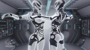 CYBERATONICA SEXY ROBOT. Blender 2.67