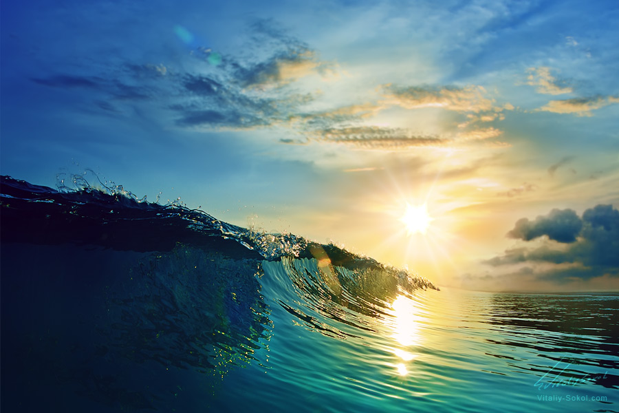 Beautiful Ocean Sunset by Vitaly-Sokol
