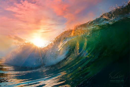 Sunset Ocean Wave