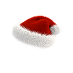 Christmas Santa Hat PNG 180 degrees on transparent