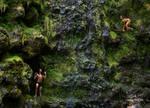 Jungle Book. Waterfall