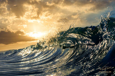 Sunset Shorebreak by Vitaly-Sokol