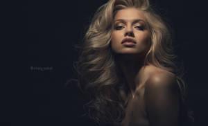 Studio Headshot of a beautiful blonde
