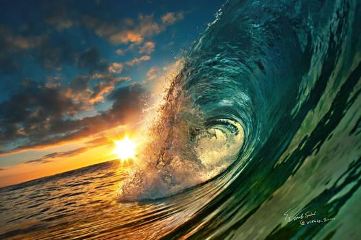 Sunset Ocean Wave Sea Water