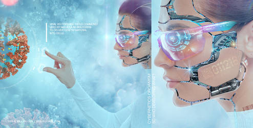 Viral Vector. Cybernetic girl
