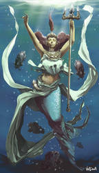 IMAGO CARDS - Mermaid Valkirie by Vandrell