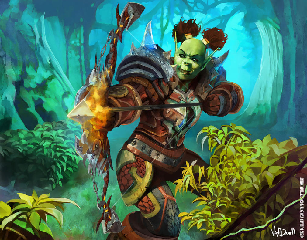 WoW CARD - ORC HUNTER by Vandrell