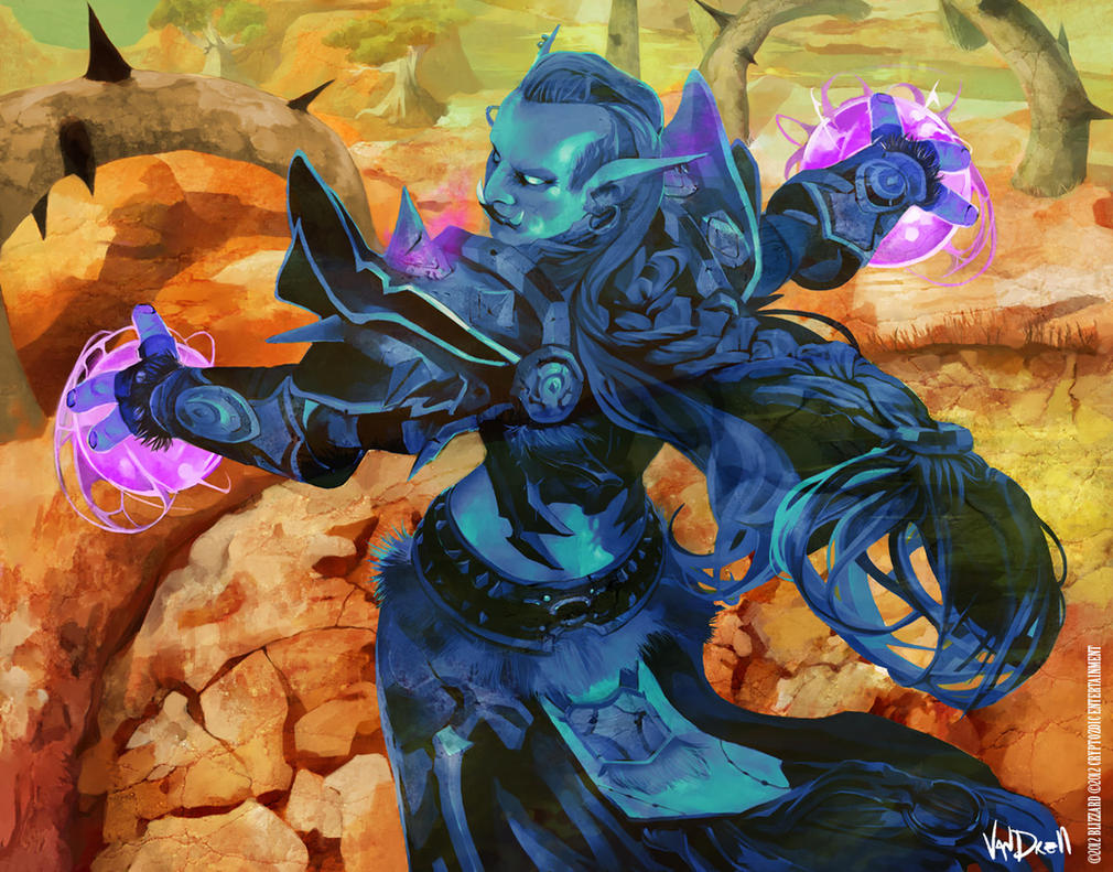 WoW CARD - TROLL PRIEST by Vandrell