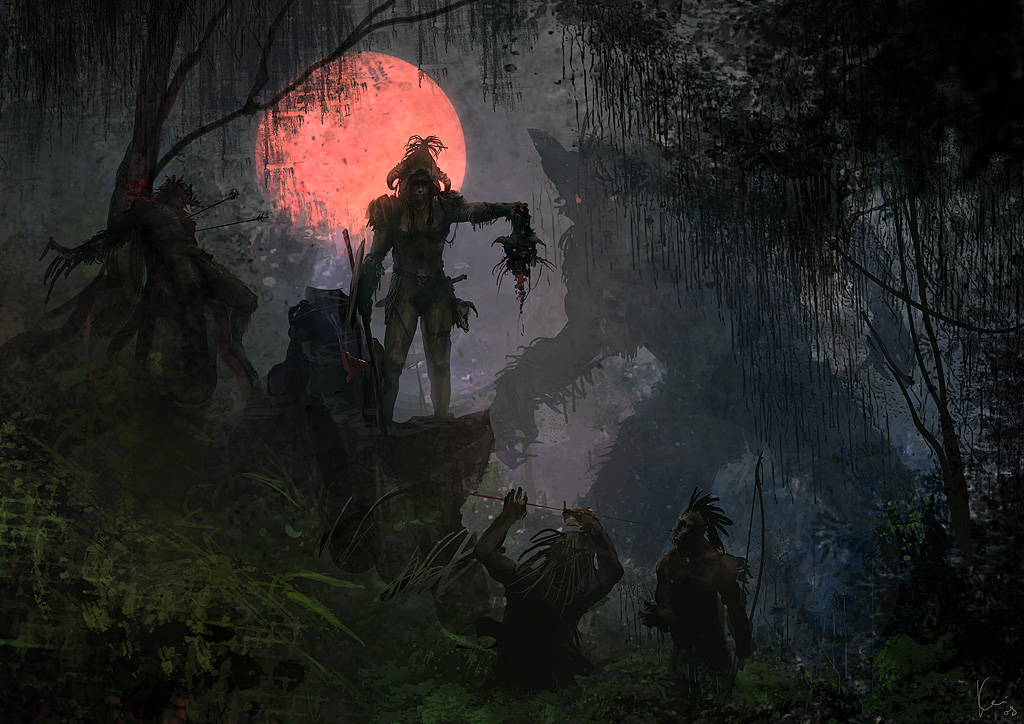 Beneath The Red Hunters Moon