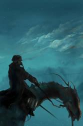 Riding on Twilight by ukitakumuki