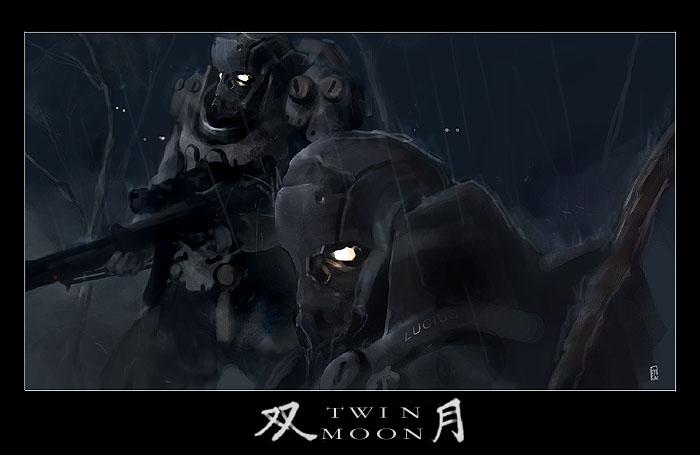 TWIN MOON by ukitakumuki