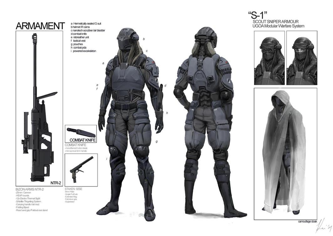 Space Vagabonds: Sniper by ukitakumuki