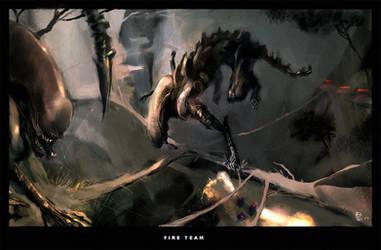 ALIENS:FIRE TEAM by ukitakumuki