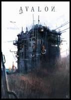 Flak Tower Avalon by ukitakumuki