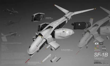 PLANETSIDE 2 Pre-Viz: SF-1B MOSQUITO by ukitakumuki
