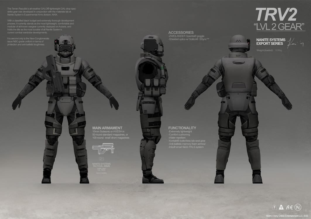 PLANETSIDE 2 Pre-Viz: Terran Republic Gear by ukitakumuki