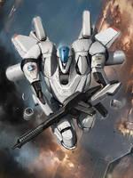 Galaxy Saga: White Gryphon Regular by ukitakumuki