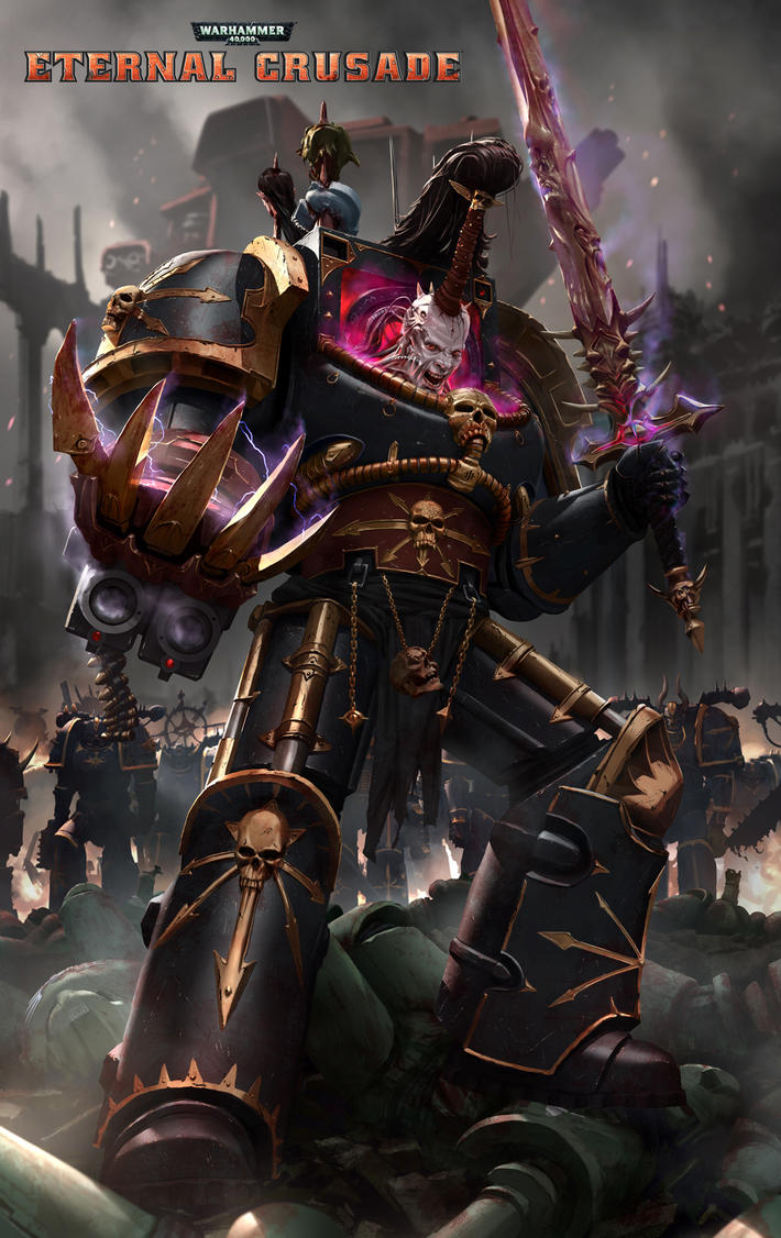 Eternal Crusade Promo Art: Abaddon The Despoiler by ukitakumuki