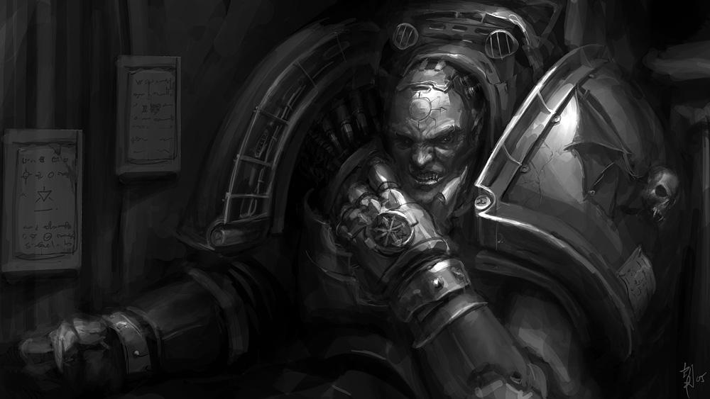 [W40K] Collection d'images : Space Marines du Chaos - Page 4 Night_Lord_by_ukitakumuki