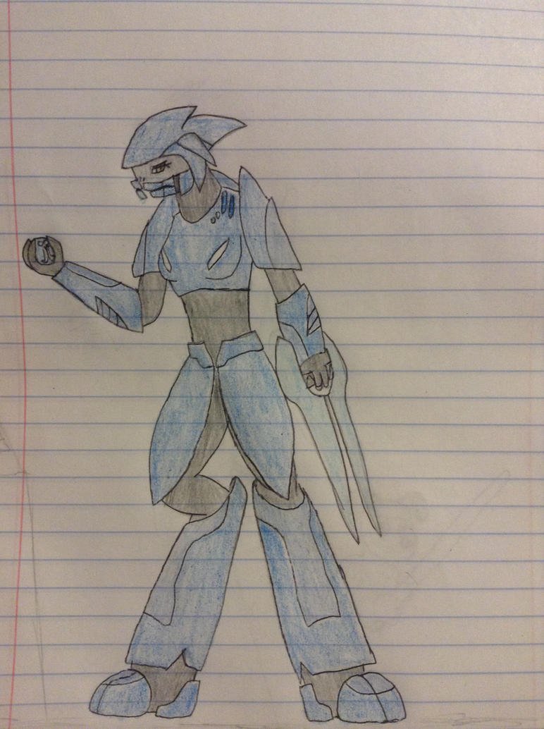 Sangheili duelist  by werelightshine