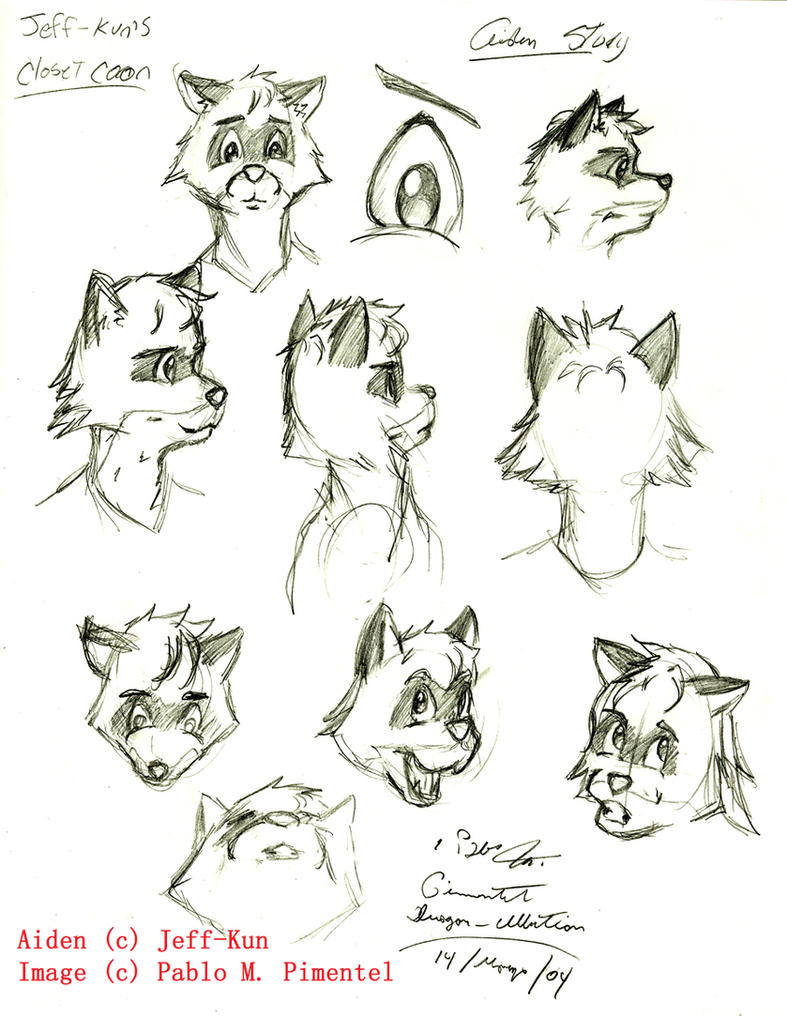 Captivating Closet Coon Aiden Sketches By Dragon Illution ...