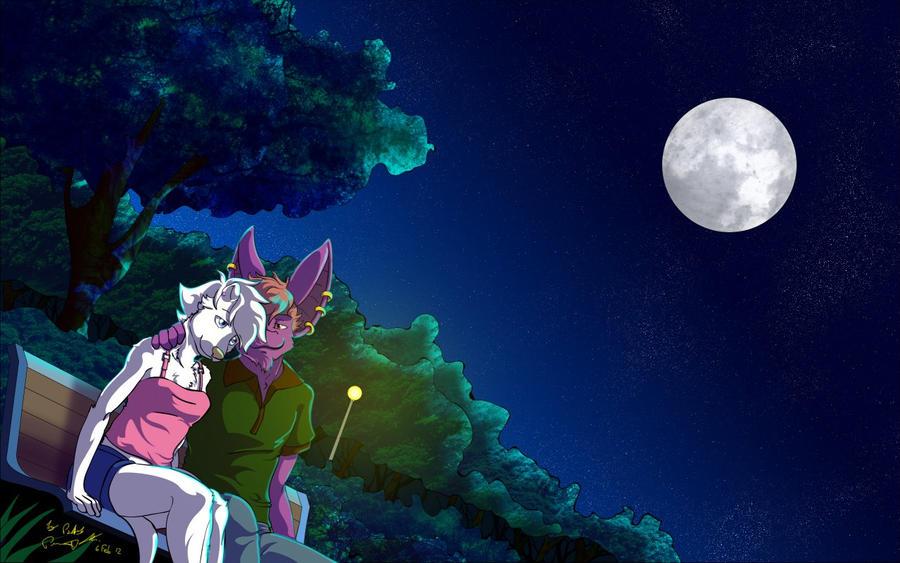 On Moonlight Wallpaper FULL Version By Dragon Illution