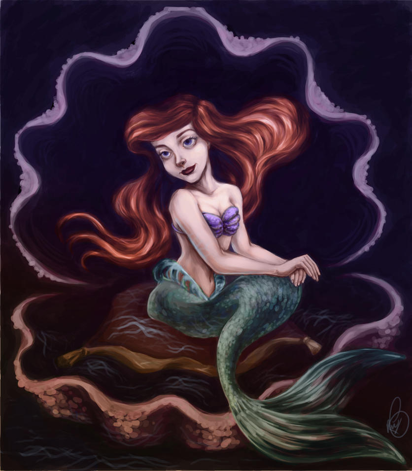 Classical Ariel- (Coloring Page Meme) by MuZzling