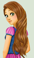 Rapunzel Brown hair