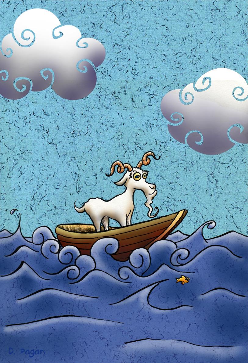 goat in a boat by danpagan on deviantart