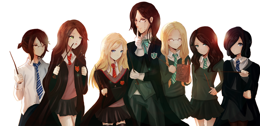 Anime Characters Hogwarts Houses : Hogwarts school own version by rinrindaishi on deviantart