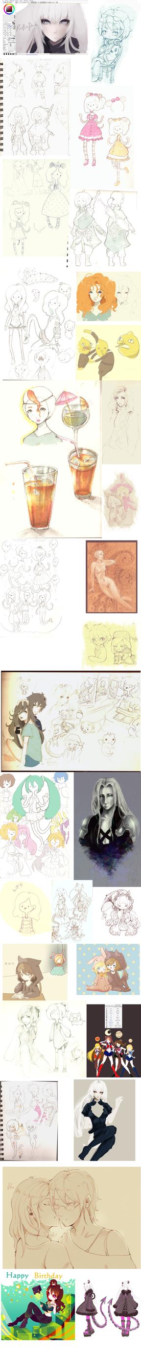 Sketch Dump-Summer edition by RinRinDaishi