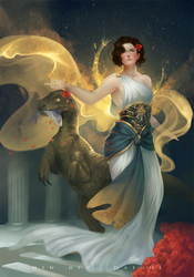 Goddess of Raptors by RinRinDaishi