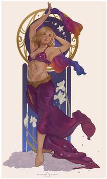 Art Nouveau Belly Dancer