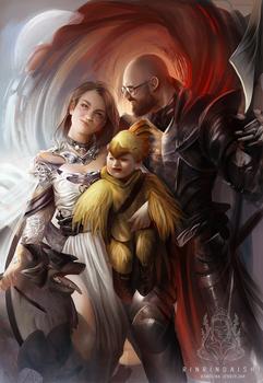 Final Fantasy Family Portrait