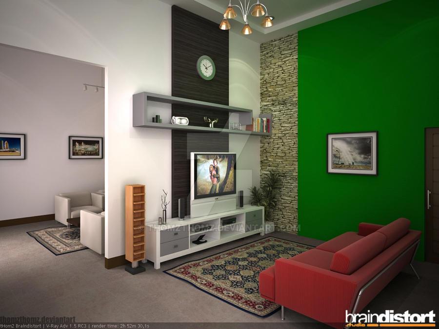 Ruang Duduk Nonton Tv By Thomzthomz On Deviantart