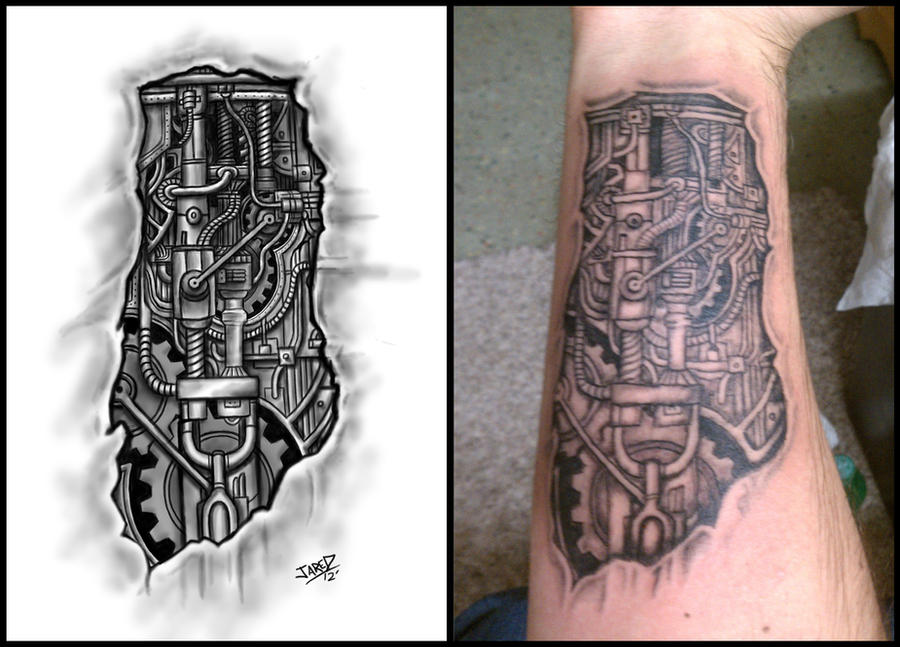 biomechanical forearm tattoo by jared1481 on deviantart. Black Bedroom Furniture Sets. Home Design Ideas